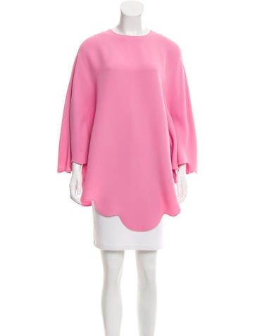 Valentino Scalloped Silk Tunic None