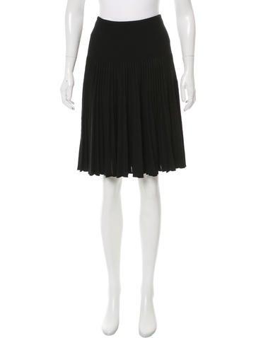 Valentino Pleated Wool Skirt None