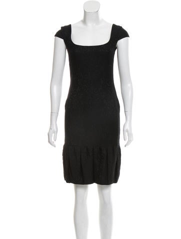 Valentino Jacquard Sheath Dress None