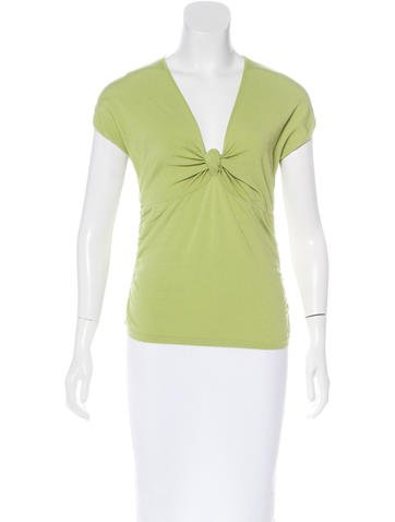 Valentino Short Sleeve Ruched Top None