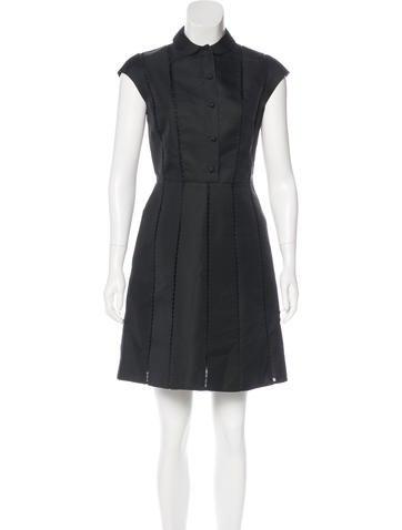 Valentino Silk Collared Dress None