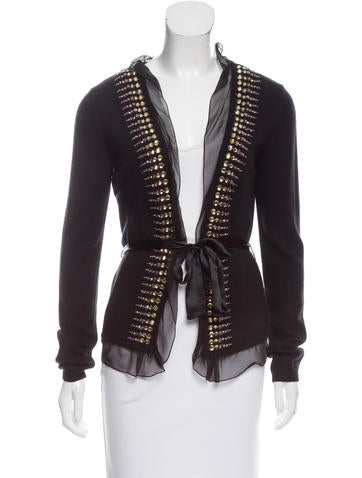 Valentino Wool Embellished Cardigan w/ Tags None