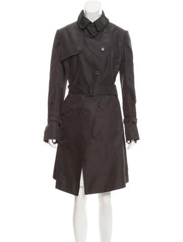 Valentino Silk Trench Coat w/ Tags None