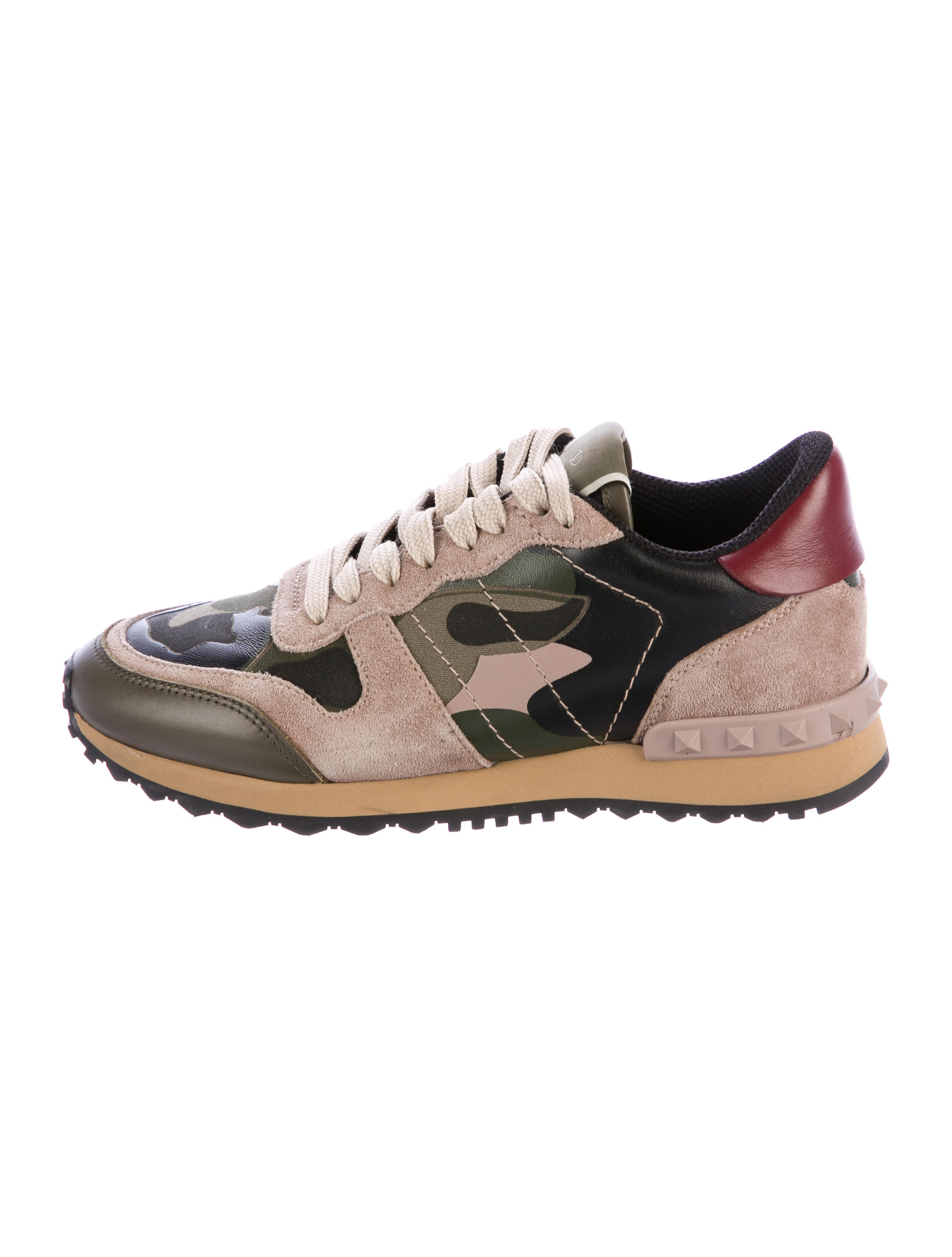 valentino camouflage rockrunner sneakers shoes val71373 the realreal. Black Bedroom Furniture Sets. Home Design Ideas