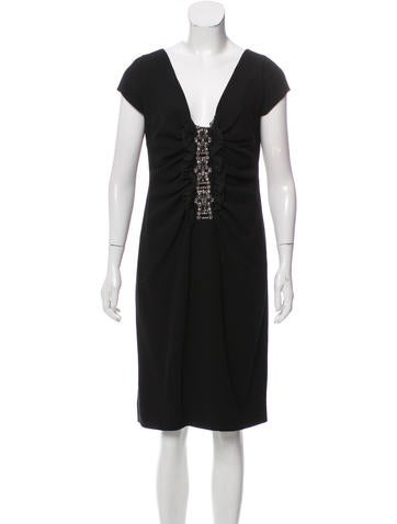 Valentino Beaded Sleeveless Dress None