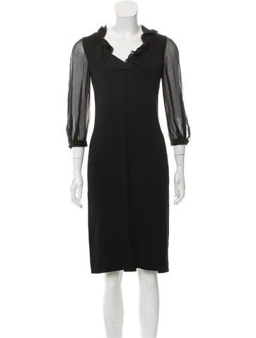 Valentino Silk Midi Dress w/ Tags None