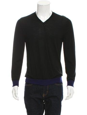 Valentino Colorblock Virgin Wool Sweater None