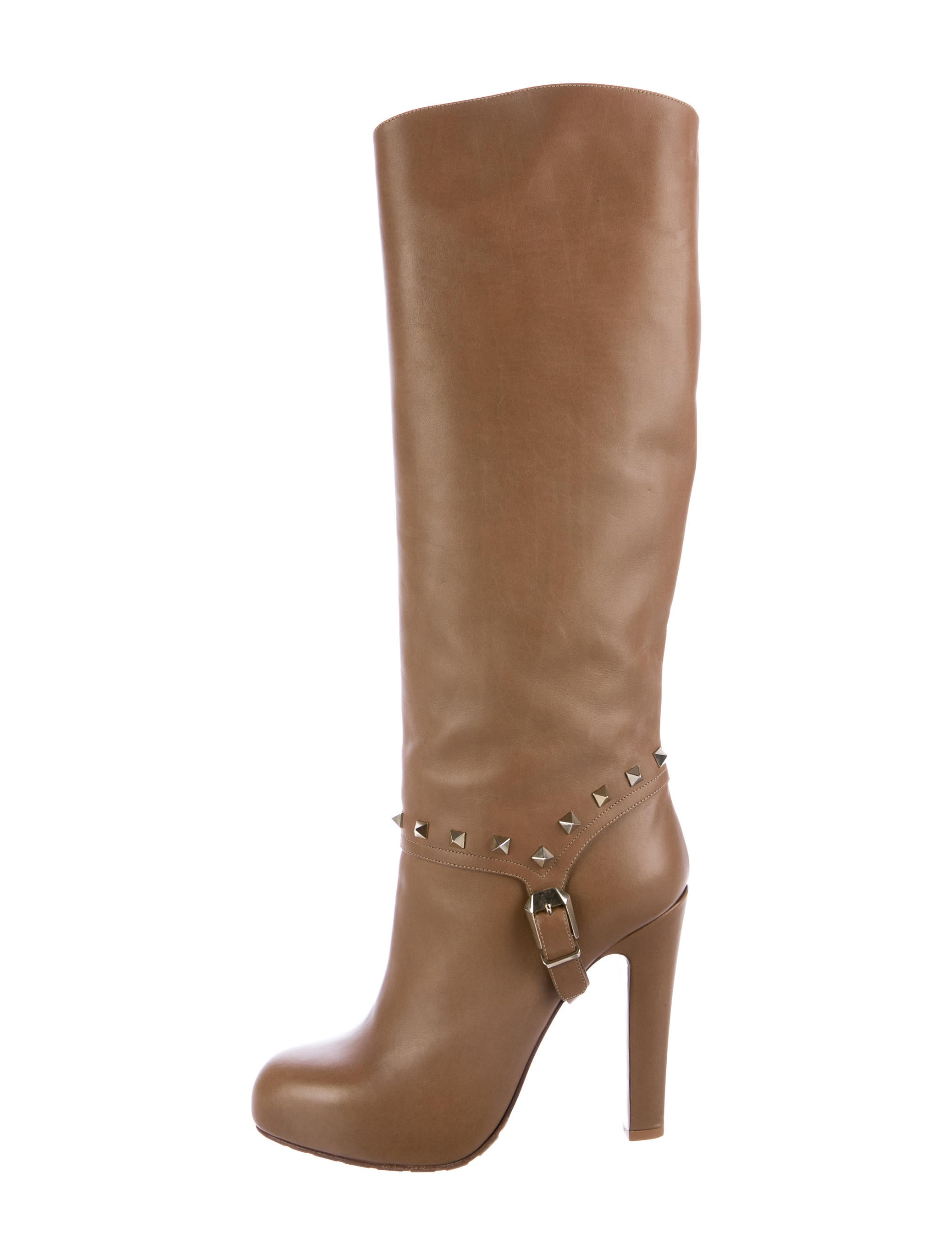 sale with credit card Valentino Rockstud Knee-High Boots w/ Tags cheap sale excellent PXSTmjsIp