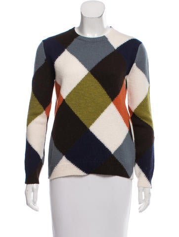 Valentino Wool Diamond Sweater w/ Tags None