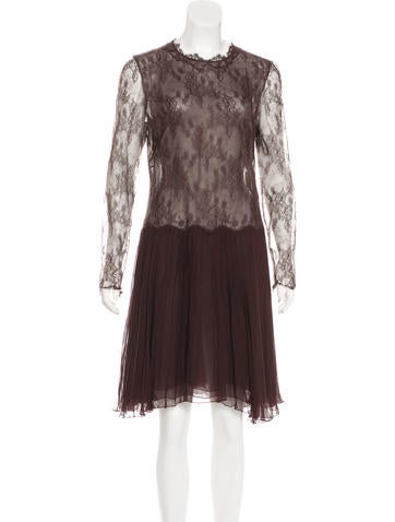 Valentino Silk Lace Dress None