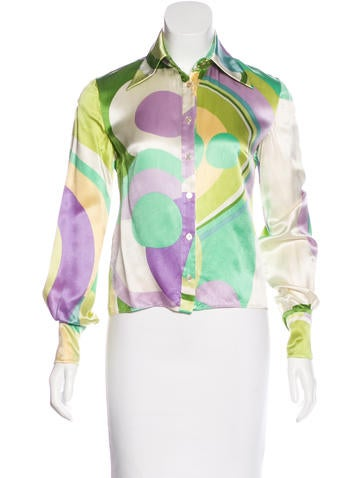 Valentino Silk Button-Up Top None