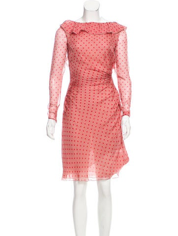 Valentino Printed Silk Dress w/ Tags None