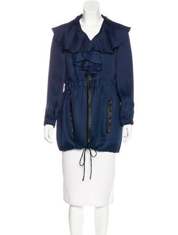 Valentino Silk Ruffled Jacket None