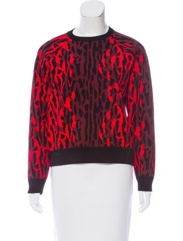 Valentino Patterned Knit Sweater None