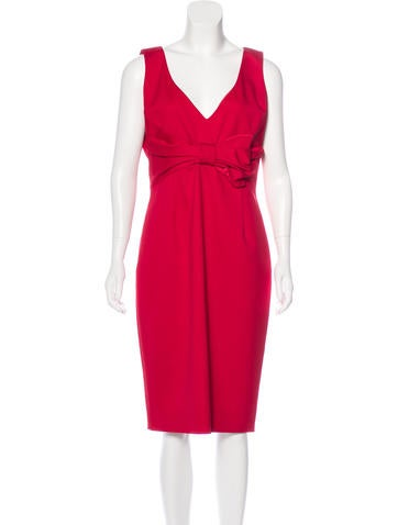 Valentino Midi Sheath Dress None