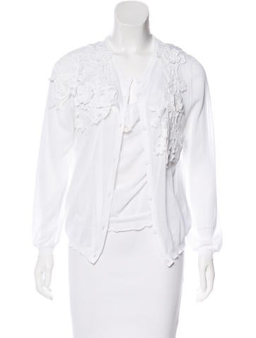 Valentino Lace-Trimmed Cardigan Set None