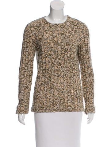 Valentino Wool-Blend Mélange Sweater None