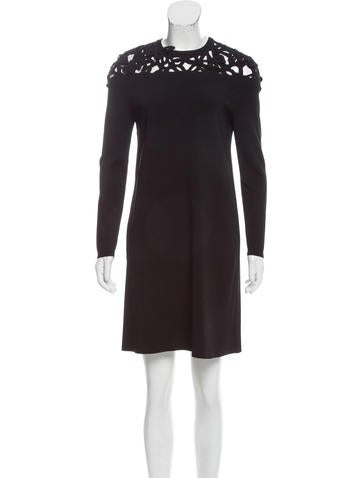Valentino Butterfly-Accented Mini Dress None