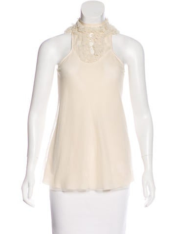 Valentino Mesh Sleeveless Top None