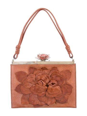Valentino Leather Floral Appliquu00e9 Bag - Handbags - VAL72620 | The RealReal