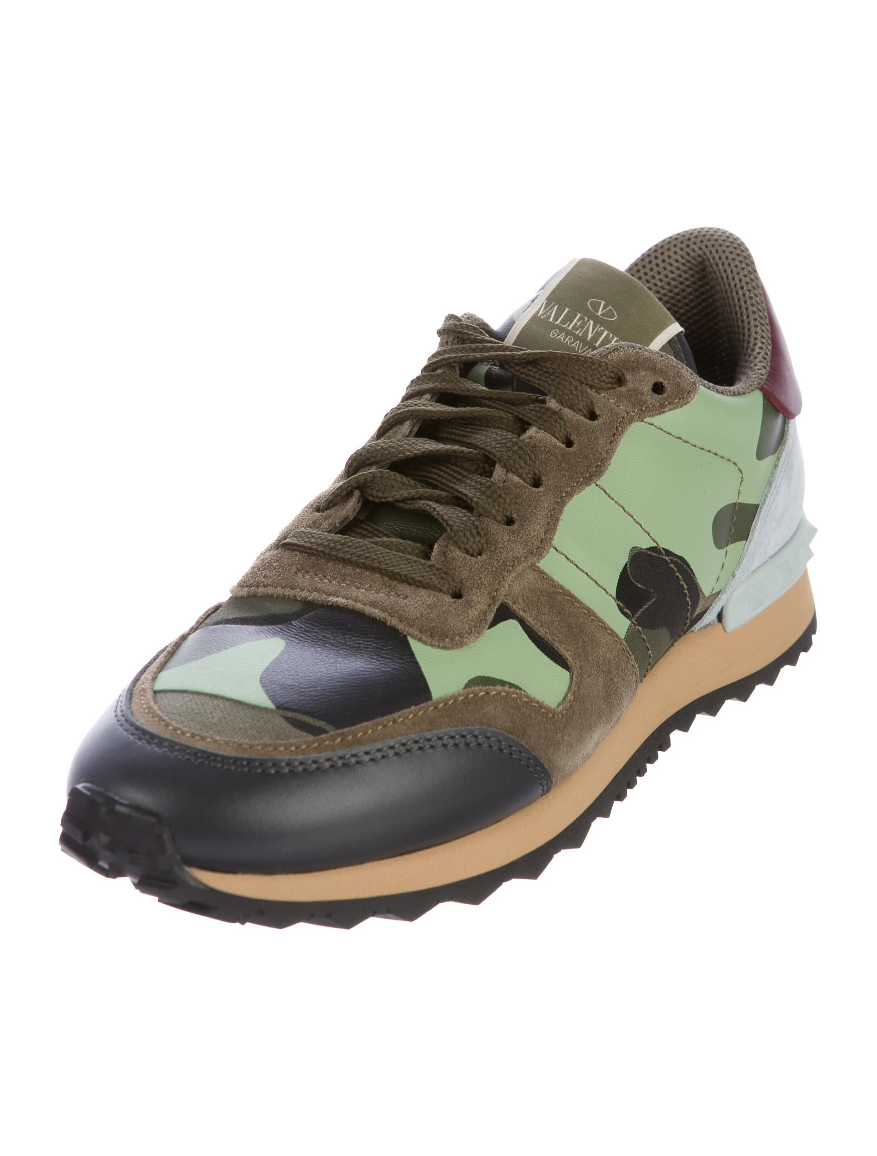 valentino camouflage rockrunner sneakers shoes val73037 the realreal. Black Bedroom Furniture Sets. Home Design Ideas