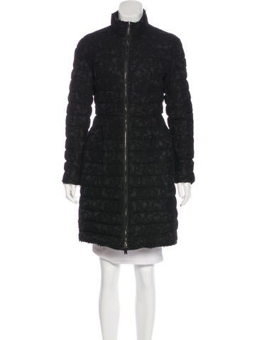 Valentino Lace-Accented Down Coat None