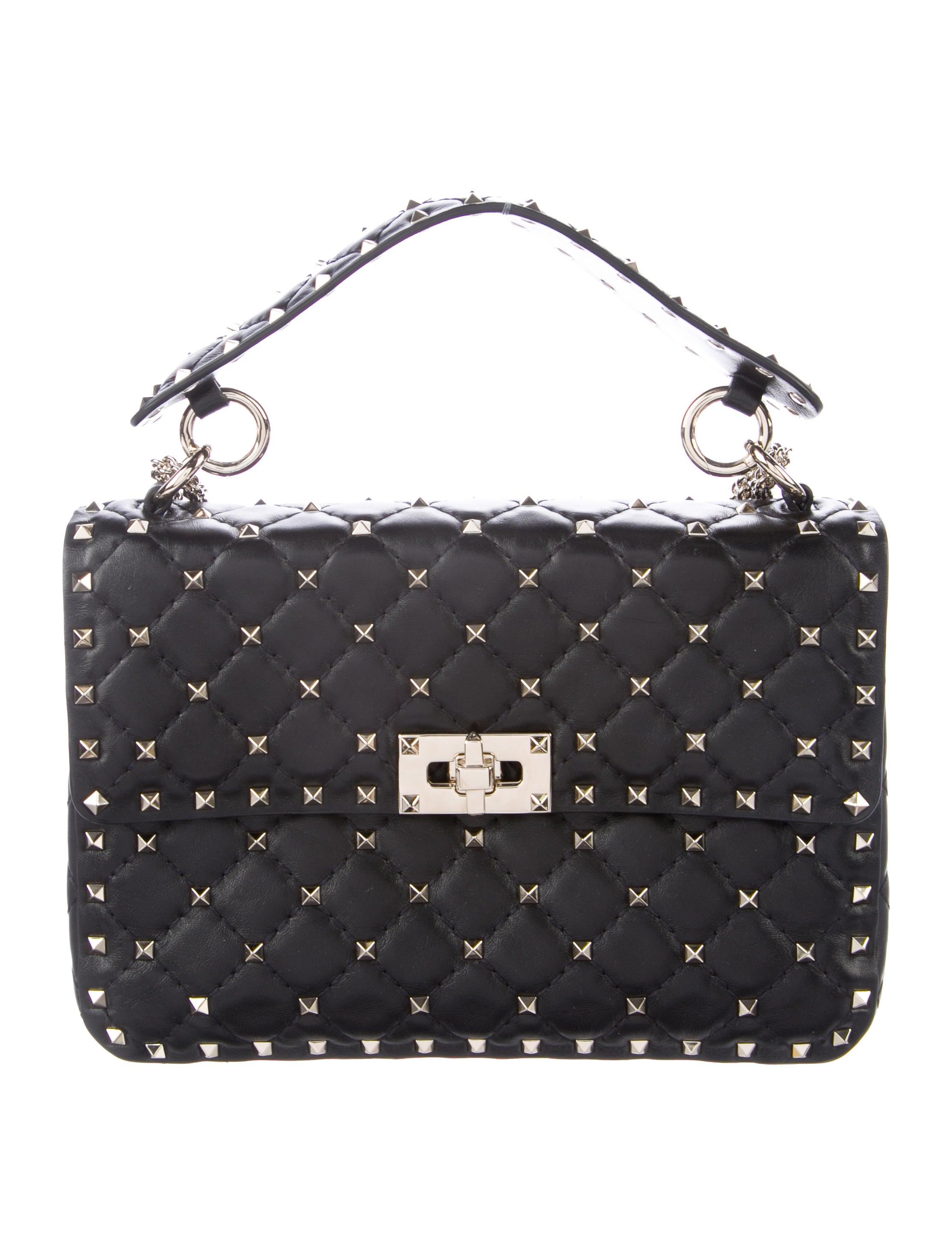 valentino rockstud spike bag handbags val73167 the