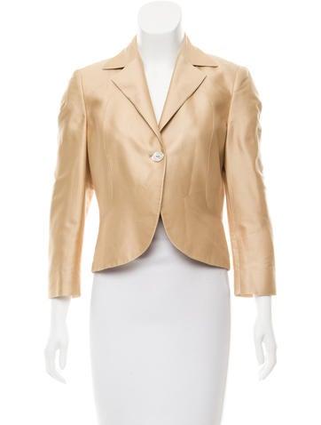 Valentino Satin Structured Jacket None