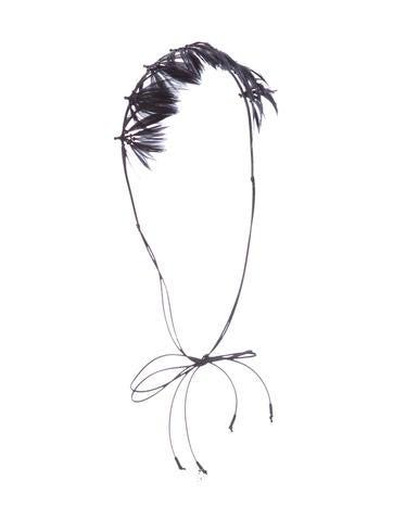 Valentino 2016 Feather-Embellished Headband None