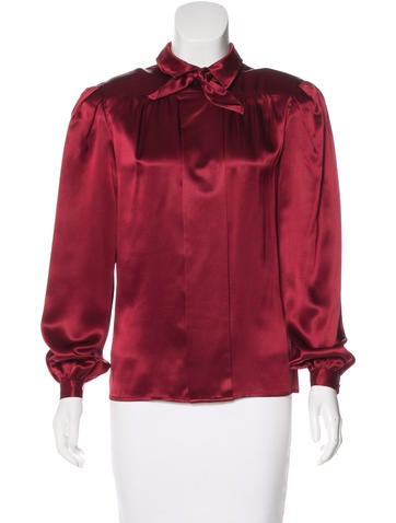 Valentino Silk Long Sleeve Top None