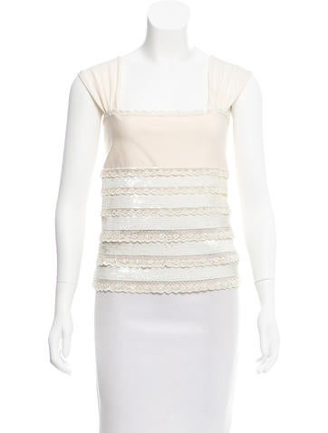 Valentino Embellished Sleeveless Top w/ Tags None