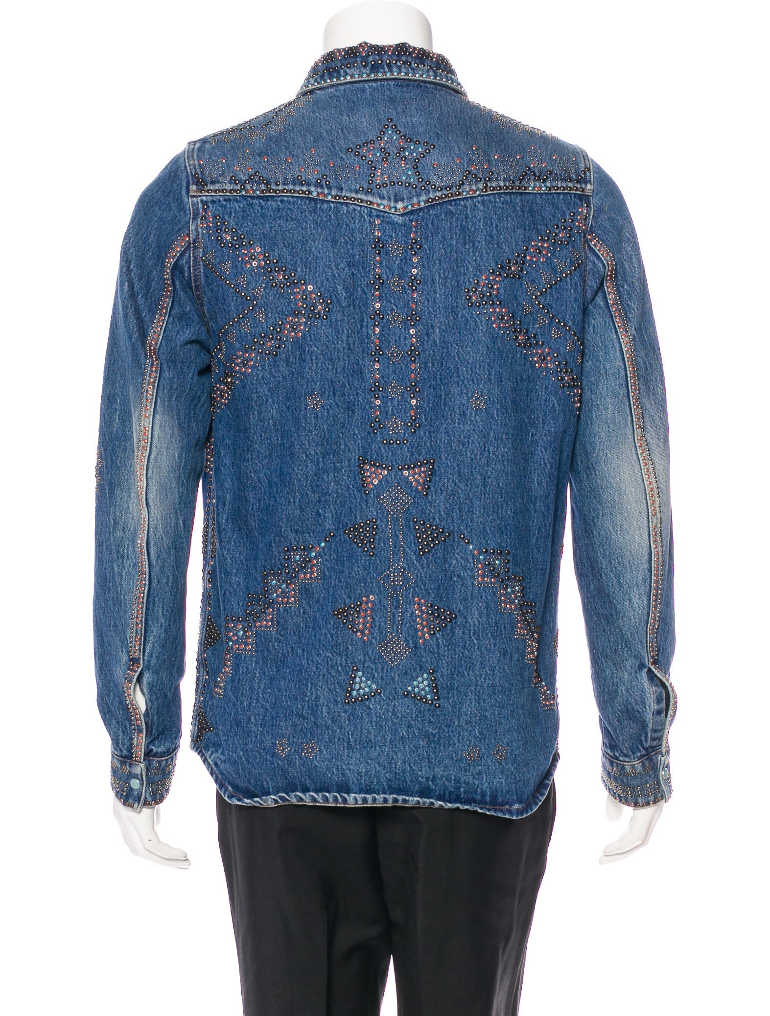 Long Sleeve Button Embellished Notch Collar Denim Coat on sale only US$ now, buy cheap Long Sleeve Button Embellished Notch Collar Denim Coat at bestyload7od.cf
