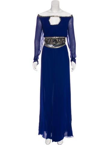 Valentino Silk Embellished Dress None