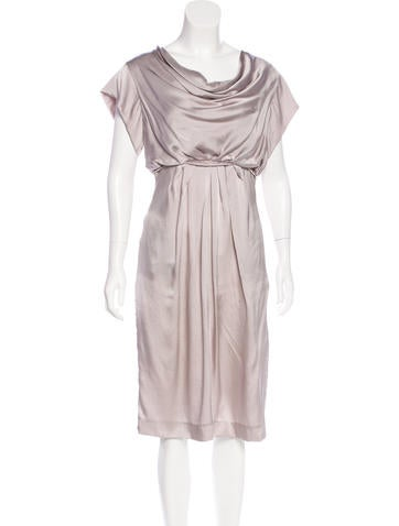 Valentino Silk Pleated Dress None