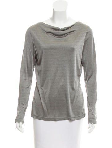 Valentino Mélange Long Sleeve Top None