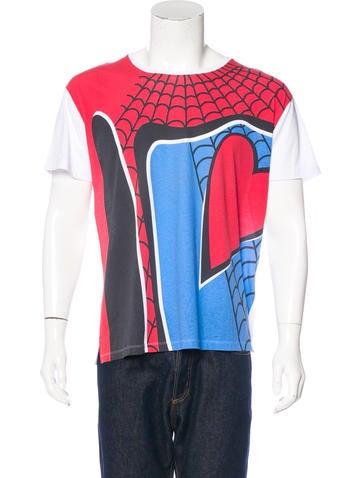 Valentino Spiderman Graphic T-Shirt None