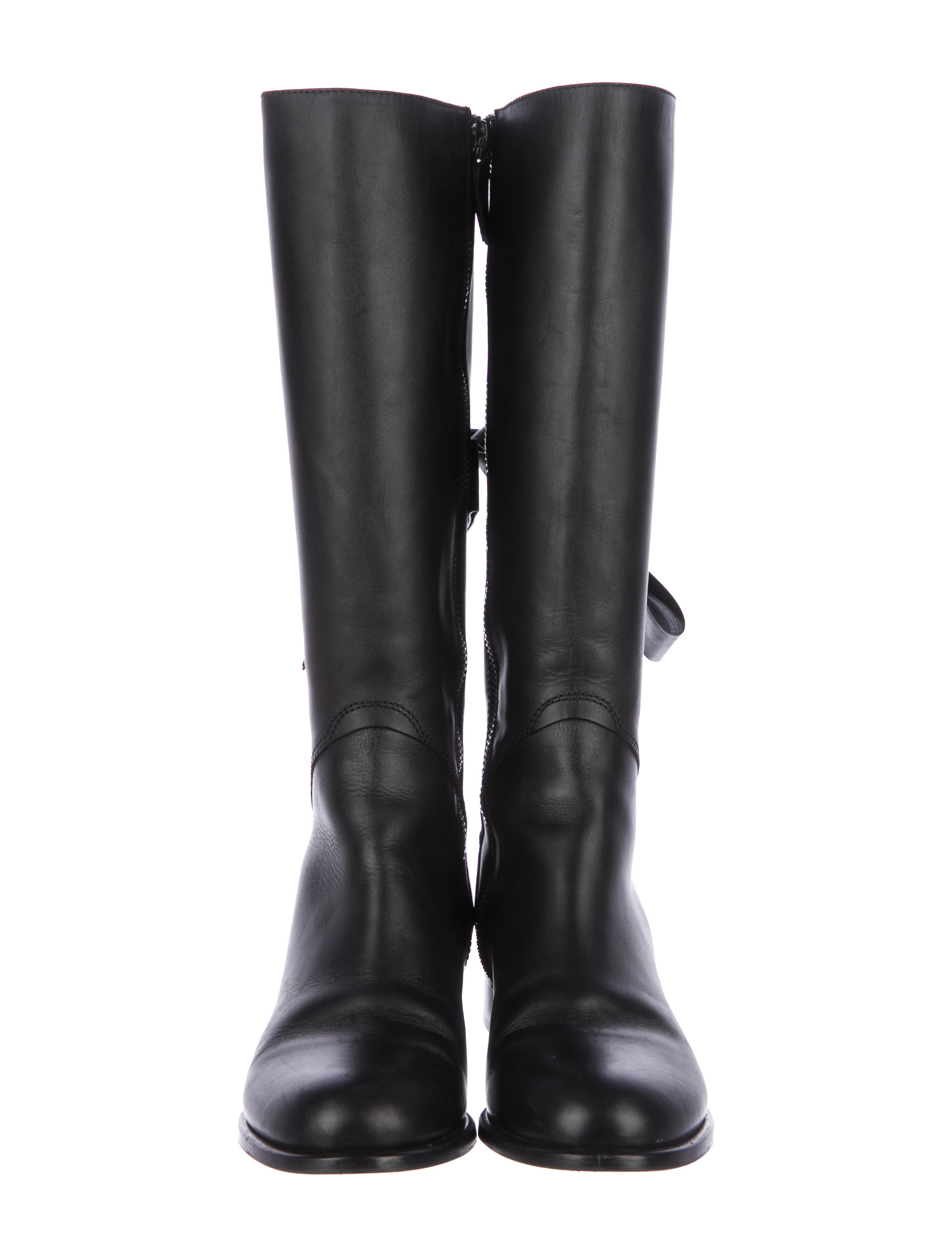 valentino bow accented knee high boots shoes val74696