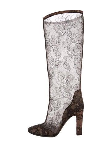 Valentino Mesh Lace Boots None