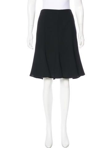 Valentino Flared Virgin Wool Skirt None