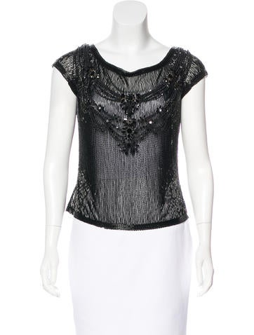 Valentino Embellished Beaded Top None