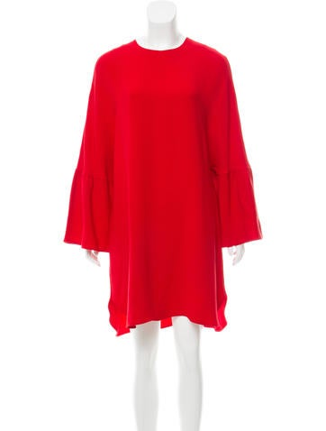 Valentino Long Sleeve Silk Dress None