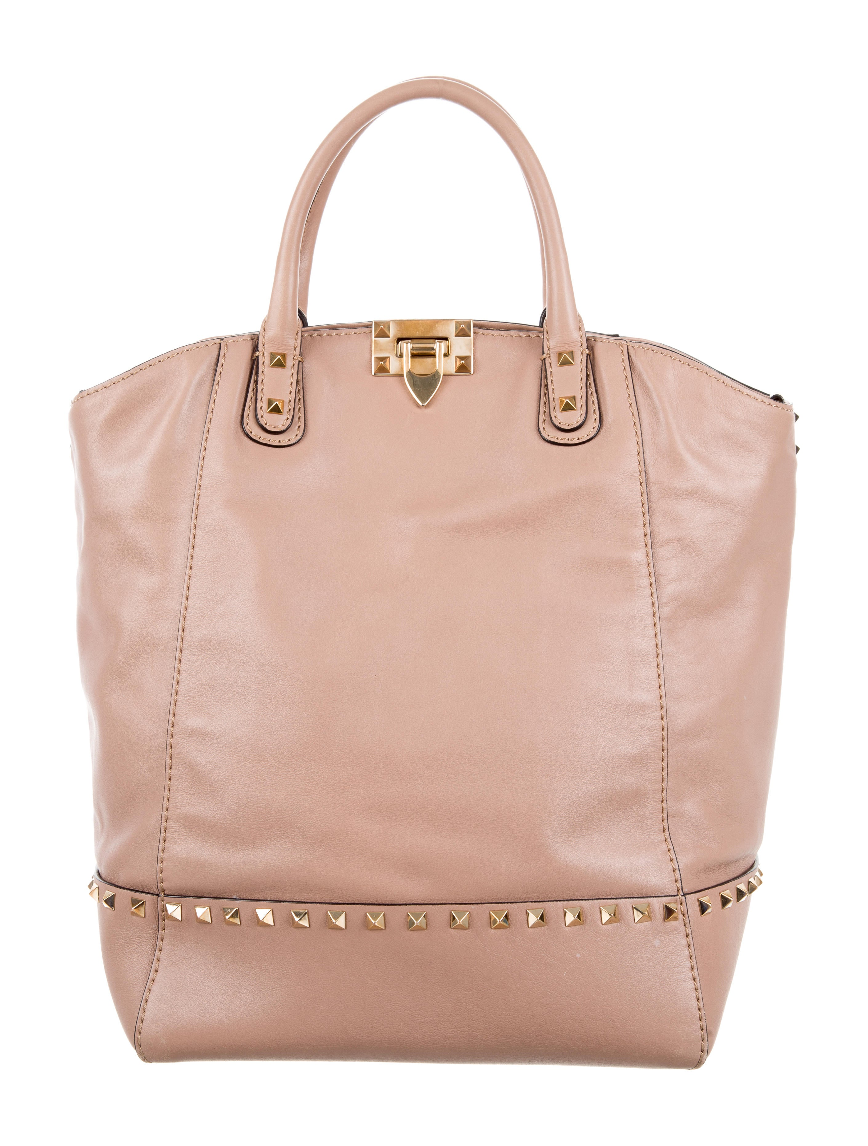 Valentino Rockstud Convertible Dome Satchel Leather E97werooiW