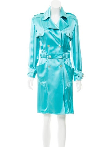 Valentino Double-Breasted Trench Coat None
