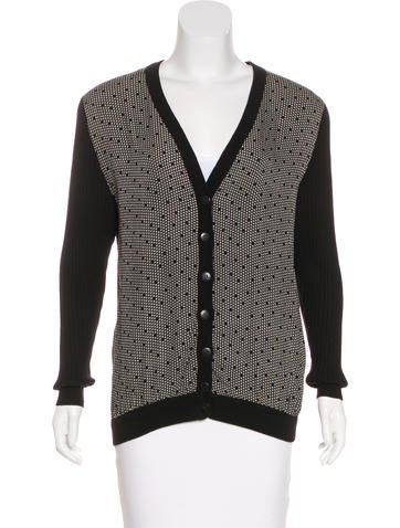 Valentino Silk & Wool Cardigan None