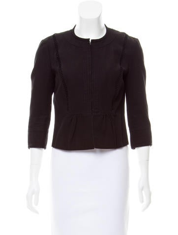 Valentino Cropped Collarless Jacket None