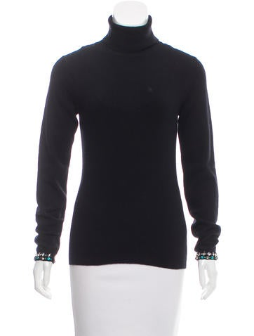 Valentino Embellished Wool Sweater None