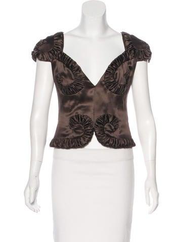 Valentino Silk Short Sleeve Top None