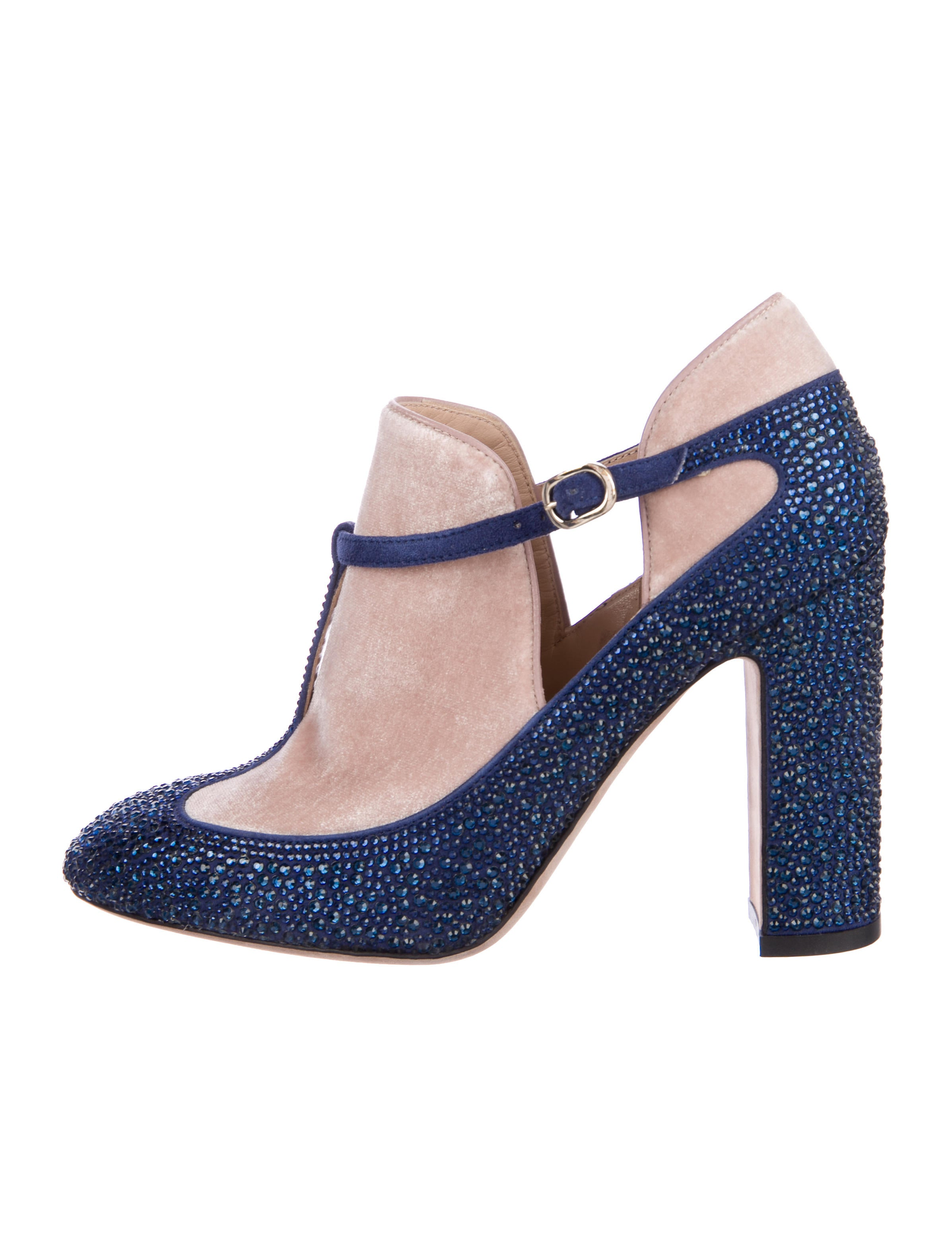 Valentino Strass T-Strap Booties free shipping exclusive PElF1awNV