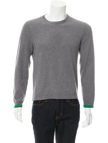 Valentino Laser-Cut Virgin Wool Sweater None