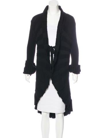 Valentino Wool Longline Cardigan None